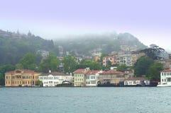 Vista scenica della riva di Bosphorus Fotografia Stock