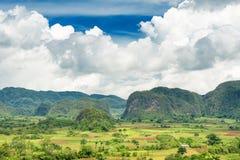 Vista scenica della valle di Vinales in Cuba Immagine Stock