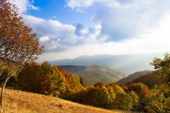 Vista scenica delle colline dell'Alsazia Immagini Stock