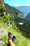Vista scenica delle dolomia delle montagne in Italia Fotografia Stock Libera da Diritti