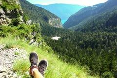 Vista scenica delle dolomia delle montagne in Italia Immagini Stock