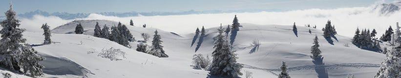 Vista scenica delle montagne Fotografie Stock