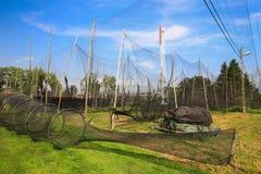 Vista scenica delle reti da pesca Fotografia Stock
