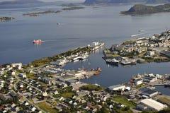 Vista scenica di Alesund, Norvegia Fotografia Stock