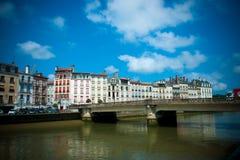 Vista scenica di Bayonne in Francia Fotografia Stock Libera da Diritti