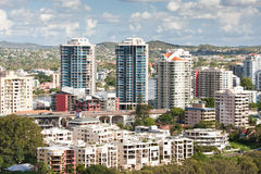 Vista scenica di Brisbane cityscape Fotografia Stock