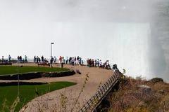 Vista scenica di cascate del Niagara Fotografie Stock Libere da Diritti