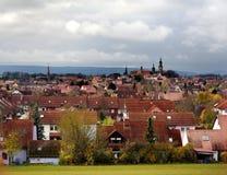 Vista scenica di cattiva città di Windsheim in Baviera, Germania Immagini Stock Libere da Diritti