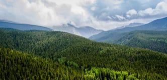 Vista scenica di Colorado Rockies immagine stock libera da diritti
