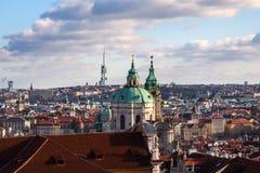Vista scenica di estate di architettura di Città Vecchia dentro fotografia stock