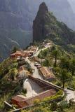 Vista scenica di Masca, Tenerife, isole Canarie, Spagna Fotografia Stock