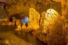 Vista scenica di Neptune& x27; caverna di s sardinia L'Italia fotografia stock