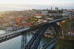 Vista scenica di Oporto, Portogallo immagini stock