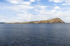 Vista scenica di piccola isola immagini stock