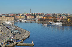 Vista scenica di Stoccolma Fotografie Stock
