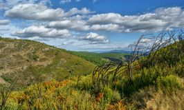 Vista scenica di Tresminas fotografie stock libere da diritti