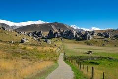 Vista scenica intorno alla collina del castello, Nuova Zelanda Fotografia Stock