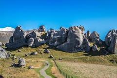 Vista scenica intorno alla collina del castello, Nuova Zelanda Fotografia Stock Libera da Diritti