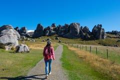 Vista scenica intorno alla collina del castello, Nuova Zelanda Immagini Stock Libere da Diritti
