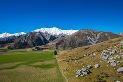 Vista scenica intorno alla collina del castello, Nuova Zelanda Immagini Stock