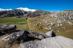 Vista scenica intorno alla collina del castello, Nuova Zelanda Fotografie Stock Libere da Diritti