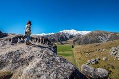 Vista scenica intorno alla collina del castello, Nuova Zelanda Immagine Stock Libera da Diritti