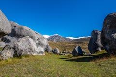 Vista scenica intorno alla collina del castello, Nuova Zelanda Fotografie Stock
