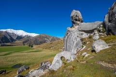 Vista scenica intorno alla collina del castello, Nuova Zelanda Immagine Stock