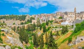 Vista scenica in Locorotondo, Bari Province, Puglia, Italia del sud fotografia stock libera da diritti