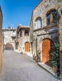 Vista scenica nel romano di Barbarano, villaggio medievale nella provincia di Viterbo, Lazio, Italia Fotografie Stock