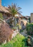 Vista scenica nel romano di Barbarano, villaggio medievale nella provincia di Viterbo, Lazio, Italia Fotografia Stock Libera da Diritti
