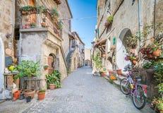 Vista scenica nel romano di Barbarano, villaggio medievale nella provincia di Viterbo, Lazio, Italia Immagine Stock Libera da Diritti