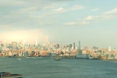 Vista scenica a New York, Manhattan fotografia stock libera da diritti