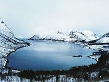 Vista scenica Norvegia fotografia stock
