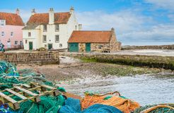 Vista scenica in Pittenweem, in Fife, sulla costa Est della Scozia fotografie stock libere da diritti