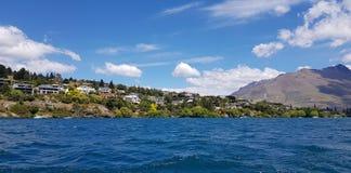 Vista scenica a Queenstown, Nuova Zelanda fotografia stock
