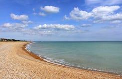 Vista scenica Risonanza Regno Unito della spiaggia di Kingsdown Fotografia Stock