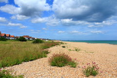 Vista scenica Risonanza Regno Unito della spiaggia di Kingsdown Fotografia Stock Libera da Diritti