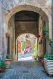 Vista scenica in Ronciglione, provincia di Viterbo, Lazio, Italia centrale Fotografia Stock