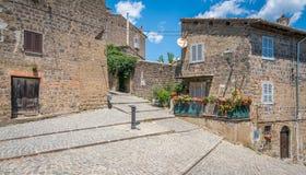 Vista scenica in Ronciglione, provincia di Viterbo, Lazio, Italia centrale Immagine Stock Libera da Diritti