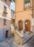 Vista scenica in Ronciglione, provincia di Viterbo, Lazio, Italia centrale Immagini Stock
