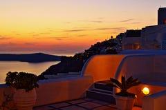 Vista scenica Santorini Grecia del mar Egeo incredibile Fotografia Stock Libera da Diritti