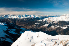 Vista scenica sopra la valle di chur Fotografie Stock Libere da Diritti