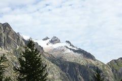 Vista scenica su un panorama in alpi italiane Immagini Stock Libere da Diritti