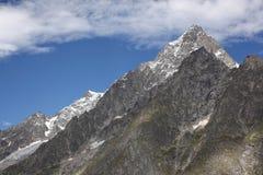 Vista scenica su un panorama in alpi italiane Immagine Stock Libera da Diritti