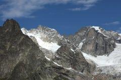 Vista scenica sul ghiacciaio italiano delle alpi Immagini Stock Libere da Diritti