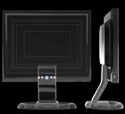 Vista schematica di un wireframe dell'affissione a cristalli liquidi Fotografie Stock