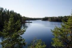 Vista serena del lago Fotografia Stock Libera da Diritti