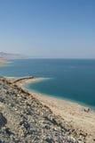 Vista serena del mar muerto Fotografía de archivo