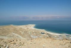Vista serena del mar muerto Imagen de archivo libre de regalías